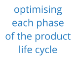 optimising  each phase  of the product  life cycle