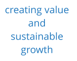creating value  and  sustainable  growth
